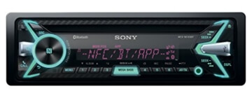 Sony MEX-N5100BT Autoradio (CD-Player, NFC, Bluetooth, USB/AUX, Apple iPod/iPhone Control, 4x 55 Watt) inkl. externe Mikrofon schwarz -